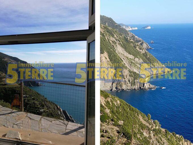 Riomaggiore rustic for rent with sea view (code 701)